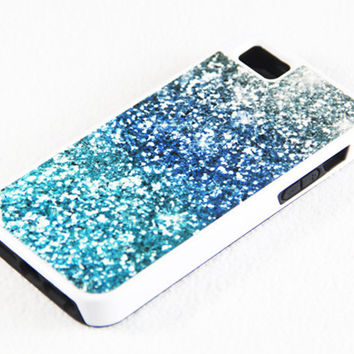 Vibrant Glitter iPhone 5 + 4S + 4 + 5C + 5S Tough Rubber and Soft Case, iPod 5 + 4 Case