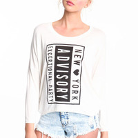 NEW YORK ADVISORY DOLMAN TEE