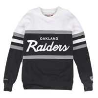 Oakland Raiders Mitchell & Ness NFL Head Coach Premium Crew Sweatshirt