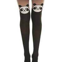 LOVEsick Panda Faux Thigh High Tights