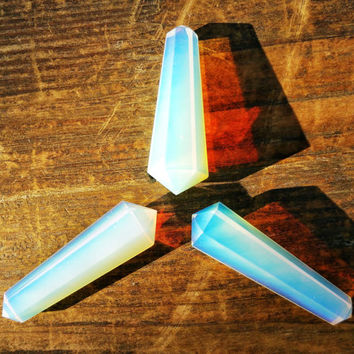 Opalite Crystal Double Terminated Point ~ Perfect for Jewelry Making, Crystal Healing, Reiki, Energy Balancing, and Crystal Grids ~ SZ14