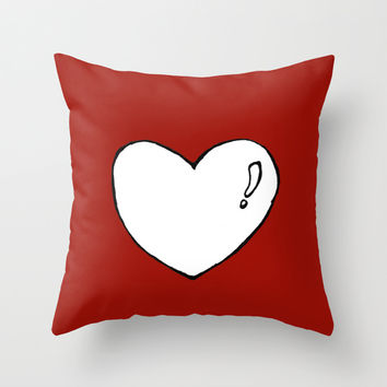 cute heart Throw Pillow by Konstantina Louka