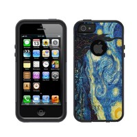 iPhone 5 5S Black Otterbox Commuter Series Vincent Van Gogh Starry Night