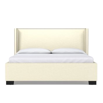 Everett Upholstered Bed EASTERN KING in CREAM - CLEARANCE
