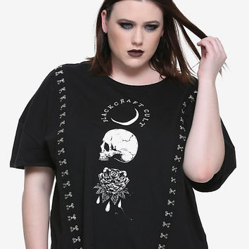 BlackCraft Hook & Eye Closure Girls Top Plus Size Hot Topic Exclusive