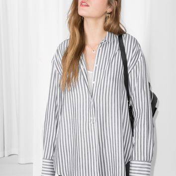 & Other Stories | Striped Cotton Shirt | Stripe