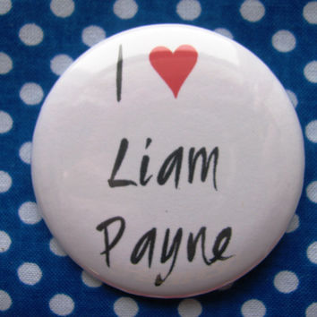I heart Liam Payne - 2.25 inch pinback button badge
