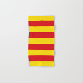 senyera catalunya-catalunya,cataluna,catalonha,espanya,iberica,Barcelona Hand & Bath Towel by oldking