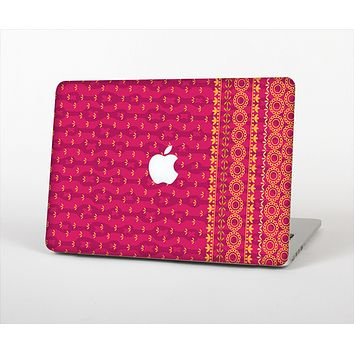The Tall Pink & Orange Floral Vector Pattern Skin Set for the Apple MacBook Air 11""