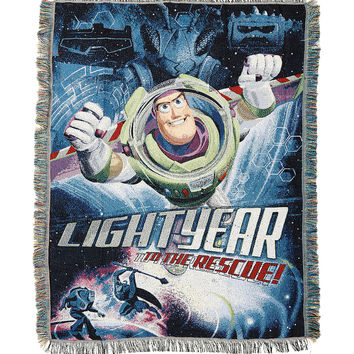 Disney Toy Story Buzz Lightyear Woven Tapestry Throw Blanket