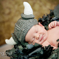 Super Cute Viking Crochet Hat Photography Prop