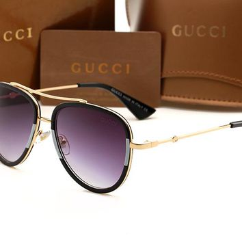 Gucci sunglass AA Classic Aviator Sunglasses, Polarized, 100% UV protection 2974244966 GG0062S