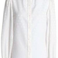 Cotton and silk-blend jacquard blouse   ALEXA CHUNG   Sale up to 70% off   THE OUTNET