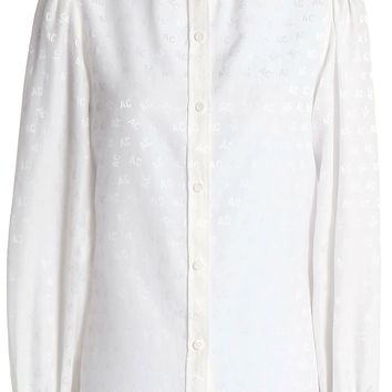 Cotton and silk-blend jacquard blouse | ALEXA CHUNG | Sale up to 70% off | THE OUTNET