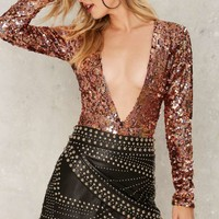 Jaded London Deeper and Deeper Plunging Bodysuit