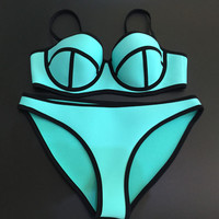 2016 sexy Bikini Set hot sale push up Women Swimwear Underwire Swimsuit Bathing Suits Biquini Swim Suits