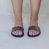 Zooey Leopard Jelly Slides