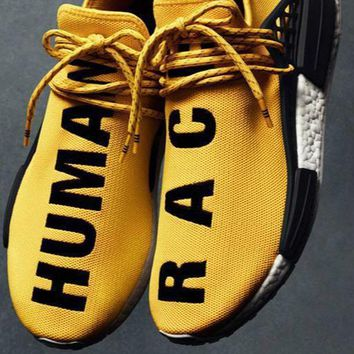 Original Adidas Pharrell Williams X NMD Human Race Running Shoes NMD Runner men and wo