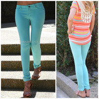 Venice Mint Tailored Skinny Pant
