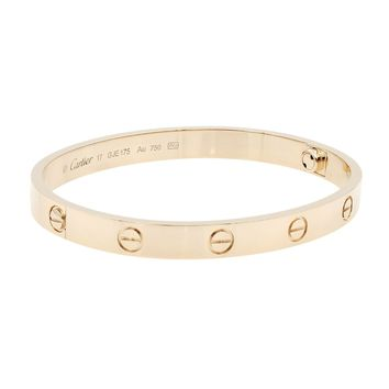 Cartier Love Bangle 18K Rose Gold Bracelet SZ17 B6035617