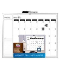 Magnetic Dry Erase Calendar with Metal Frame, 16 x 20 - Office Supplies - Office Equipment - Presentation Boards