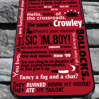 Supernatural Quotes Crowley for iPhone 4/4s, iPhone 5/5S/5C/6, Samsung S3/S4/S5 Unique Case *76*