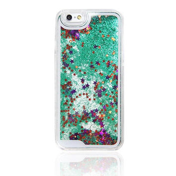 Green Glitter Waterfall iPhone 6s Case iPhone 6 Case iPhone 6S/6 Plus Case iPhone 5S/5/5C Case N0002