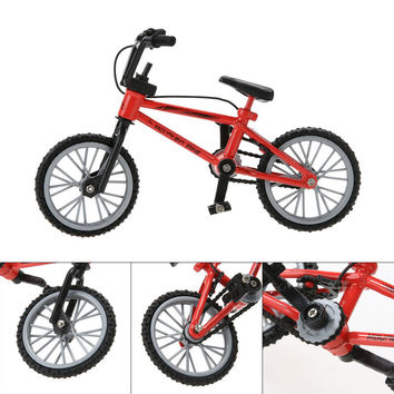 New Baby toys Kids Functional Finger Mountain Bike + Spare Tire + Tools Fixie Bicycle Model Kits Children gifts