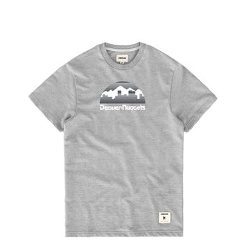Denver Nuggets Tonal Skyline Logo Baby French Terry Heather Grey