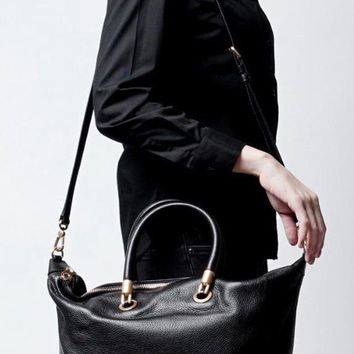New with Tags - Marc Marc Jacobs Too Hot To Handle Top Zip Black Leather Satchel