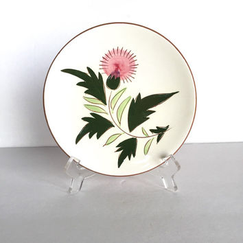 Vintage Stangl Pottery Thistle Plate