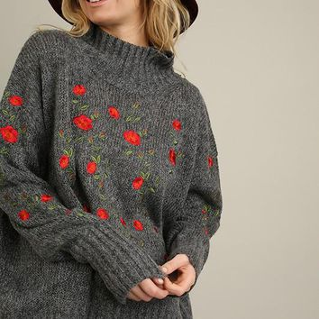 Cozy Ash Embroidered Sweater