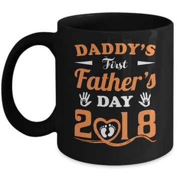 DCKIJ3 Daddy's First Father's Day 2018 New Baby Mug