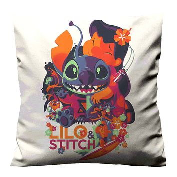 NEW DISNEY LILO AND STITCH ART Cushion Case Cover