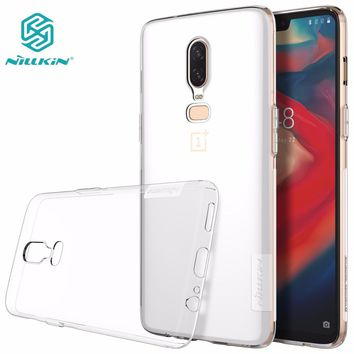 oneplus 6 case TPU oneplus 5T case NILLKIN Nature Transparent clear soft TPU Luxury back cover for one plus 6 5 5T 3 T 3T
