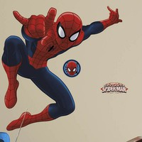 Marvel Ultimate Spider-Man Peel & Stick Wall Decal (Red)