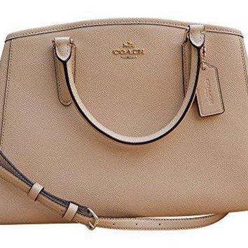 CHEN1ER Coach Crossgrain Leather Small Margot Carryall Shoulder Bag Handbag