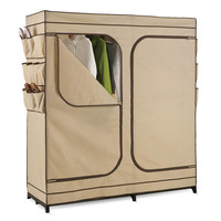 Honey Can Do WRD-01272 60 Inch Double Door Storage Closet with Shoe Organizer