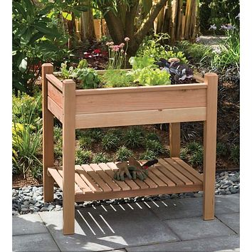 Elevated Garden Bed Planter Box in Unstained Western Red Cedar