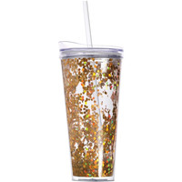 Slant Collections- 22Oz. Hot/Cold Tumbler- Gold Confetti