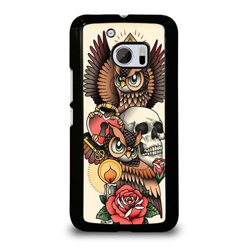 OWL STEAMPUNK ILLUMINATI TATTOO  HTC One M10 Case Cover