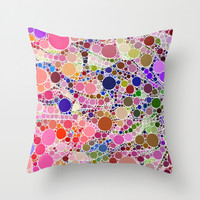 Bubble Fun 02 Throw Pillow by MehrFarbeimLeben