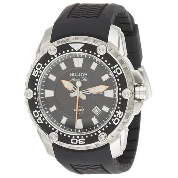 Bulova 98B209 Men's Marine Star Sport Black Dial Black Rubber Strap Automatic Dive Watch