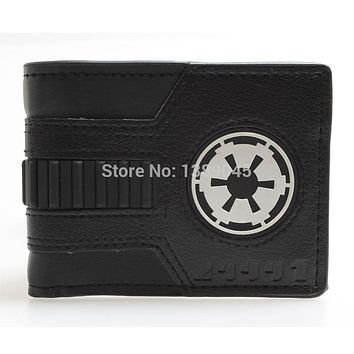Star Wars Force Episode 1 2 3 4 5  Galactic Empire Black Bi-fold wallet  young students personality DFT-1044 AT_72_6