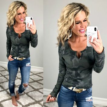Camo Darling Top