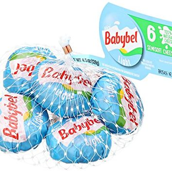 Mini Babybel Cheese, Light, 6 Count