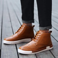 Men's British Style Brogue Boot