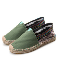 2016 NEW!23 colors! Fashion Women & Men canvas espadrilles size 35-45 women's Flats casual Unisex lover shoes Free shipping