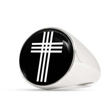 Stylized Cross v2 - Luxury Signet Ring