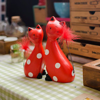 Creative Wooden Cats Decoration Home Gifts Accessory [6282970758]